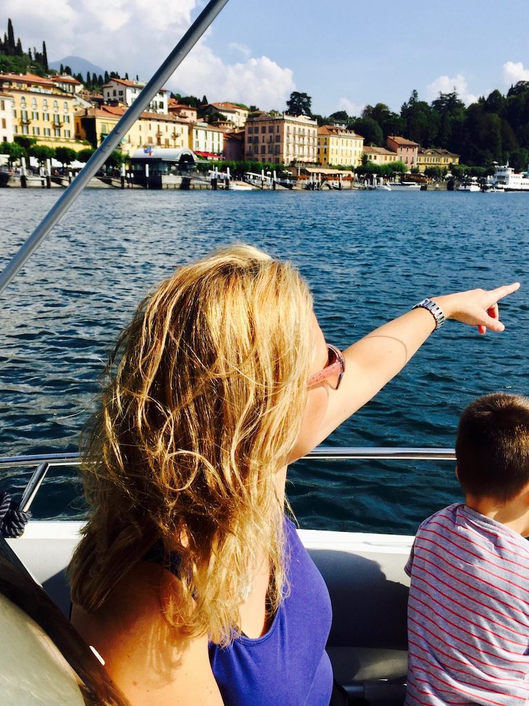 Family boat tour with Bellagio Lake Como Charter