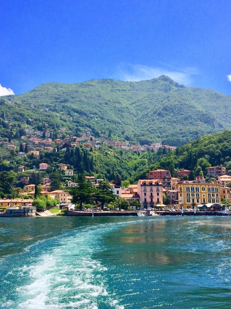 Varenna seen from Bellagio boat charter tour