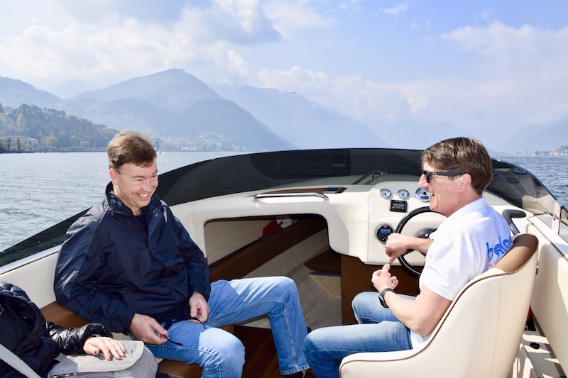 Lake Como boat hire with skipper
