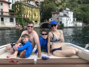 Lake Como with your family