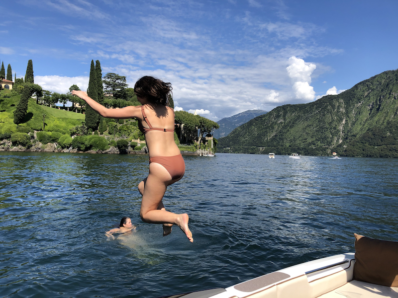 Jumping from the boat