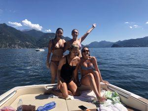 Enjoying the boat tour